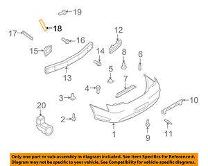 Infiniti NISSAN OEM 09-13 G37 Rear Bumper-Side Bracket Left 85225JK00A