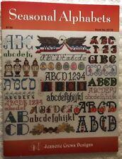Seasonal Alphabets Cross Stitch Pattern Book Elizabeth Spurlock 15 Designs OOP