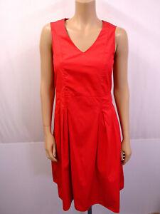 MARC O'POLO MOP Jersey Kleid Gr.36 A-Linie Ärmellos Faltenwurf Rot