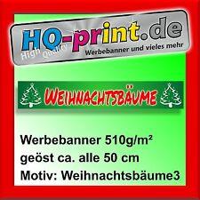 €18,67/m² Werbebanner 300x50cm Weihnachtsbäume Werbeplane Digitaldruck geöst