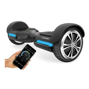 Swagtron T580 Adults Bluetooth Hoverboard Scooter 6-In Wheels + App Speaker