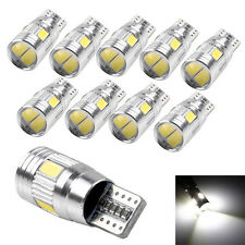 10pcs T10 5630 6 SMD LED Canbus Error Free Car Wedge Light Lamp Bulb White 9-14V