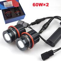 2× 60W SMD/ LED Angel Eyes Halo Light For BMW E87 E39 E60 E61 E63 E65 E83 E53