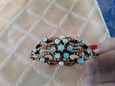 Opals, Seed Pearls And Lager P Vintage 50'S Opal 14K Bracelet Bangel Magnificent