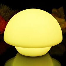 15cm Champignon Lumière D'ambiance Rechargeable LED Table Lampe Nuit par