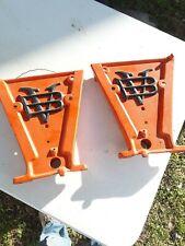 Pair Antique Cast Iron John Deere Van Brunt Farm Grain Drill Tractor Plates