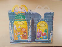 Beuaty and the Beast Enchanted Christmas McDonalds Unused Happy Meal Box #B2649