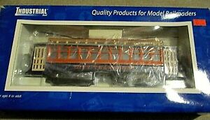 Industrial Rail O gauge City Transport powered Trolley w Box 14003 027