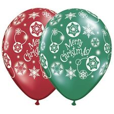 Merry Christmas Red Green 11 Inch Balloons 25 Pack Christmas Winter Decoration