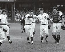 DETROIT TIGERS DENNY McLain IS CONGRATULATED BY TEAM AFTER HIS 30TH WIN  SEASON