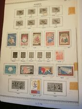 5 Old Album Pages of Stamps from Algeria (Open Ducket Lot 448)