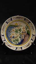 Assiette XVIII ème en faience de Delft ou Nord de la France décor chinois pagode
