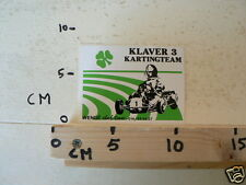 STICKER,DECAL KARTS, SKELTERS KLAVER 3 KARTINGTEAM WENGE CLUB GEEL
