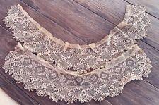 4 Antique Irish crochet lace flower squares appliques dolls crafts unused  #1f