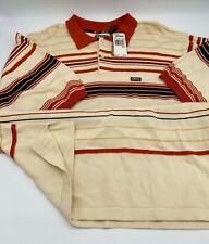 Vintage Enyce Velour Striped Long Sleeve Men's Shirt XXXL Hip Hop