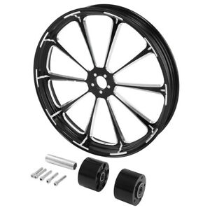 23'' X 3.5'' CNC Front Dual Disc Wheel Rim Hub For Harley Touring FLHR 2019 2008