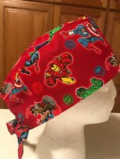 Scrub or Chef Hat Medical Nursing Chemo Skull Cap Marvel Comics Avengers Cap #1