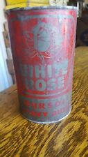 VINTAGE ADVERTISING DURSOL WHITE ROSE Motor Oil sign tin canadian can