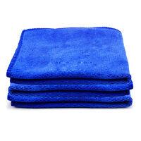 3x Neu Blau Mikrofaser Handtuch Auto Reinigung Wäsche sauber Tuch 30X30cm N Y2N1