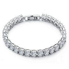 Bracciale TENNIS PIETRA GRANDE 18K Finitura Oro Bianco Diamanti creato un nuovo
