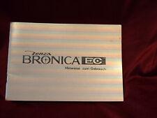 Zenza Bronica EC Bedienungsanleitung