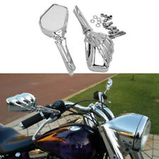 Chrome Motorcycle Skull Skeleton Hand Mirrors For Harley Rocker Honda Suzuki US