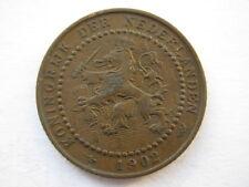 Netherlands 1902 bronze 1 Cent VF