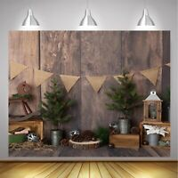 CHRISTMAS Wood Wall Planks Photography Background Cloth Studio Photo Backdrop