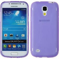 Coque en Silicone Samsung Galaxy S4 Mini - X-Style pourpre + films de protection