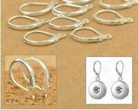 3 X  Pairs 925 Sterling Silver Earring Ear Hooks Lever Back Open DIY earrings