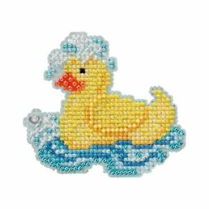 Rubber Ducky Beaded Cross Stitch Kit Mill Hill 2012 Spring Bouquet
