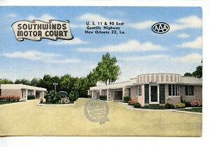 Southwinds Motor Court Motel-New Orleans-Louisiana-Vintage Advertising Postcard