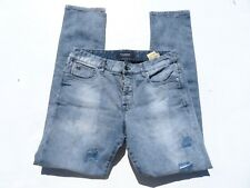 Mens SCOTCH & SODA Ralston Light Wash Distressed Denim Jeans 33 x 33