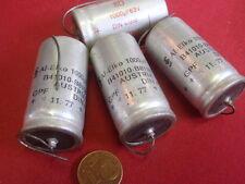 SELTEN! KONDENSATOR 1000µF 63V=NOSTALGIE SIEMENS/SPRAGUE  D=21x40mm    4x  25278