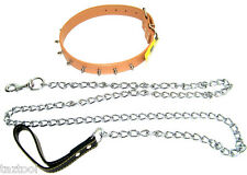"""72"""" 6ft Long X 4mm Thick Chain Dog Leash Strong Hold Pet Black Strap Walking"""
