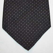 NEW Van Heusen Silk Neck Tie Solid Black with Plain Stripes and Squares 1048
