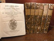 VOCABOLARIO ACCADEMICI DELLA CRUSCA - VERONA 1806  7 volumi completo raro ottimo