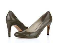 Michael Kors Womens Olive Green Patent Leather Slip On Pumps Heels Size 8.5 M