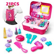 21Pcs Pretend Play Set Hair Dryer Home Makeup Toy Set Beauty Fashion For Girls