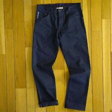 RALEIGH DENIM Men Thin Slim Selvedge Cone Mills White Oak Denim Jeans 32W 29L
