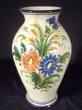 VINTAGE MID CENTURY COLORFUL HAND PAINTED ITALIAN MAJOLICA VASE OR LAMP BASE