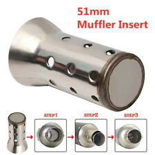 Stainless Steel Insert Baffle DB Killer Silencer Motorcycle Exhaust Muffler 51mm