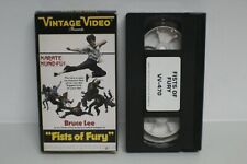 Vintage Video Fists of Fury VHS RARE 1973 1985 Bruce Lee Kung Fu