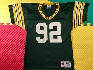 Reggie White Green Bay Packers #92 Champion Green Jersey Youth Size Med Made USA