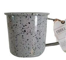 New listing Fiddle+Fern Enamel Mug 24oz Coffee/Tea/Camping Cup Mug Gray/Black Speckled, New