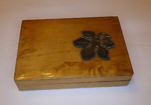 Antique Classy Wood Container With Silver Application 900er Top! Look