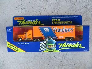 Matchbox Days of Thunder Russ Wheeler Hardees Racing Team Transports Diecast NEW
