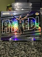 2018-19 Prizm Get Hyped Insert #4 LeBron James Silver Holo Prizms Refractor SP!!
