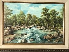 Karl Weidhoffer Painting  1920-2001 Framed oil on board landscape 1972