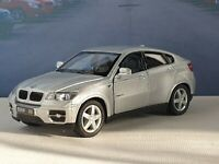 NEW BOYS TOYS BMW X6 SILVER PERSONALISED 1.38 DIECAST MODEL TOY CAR PRESENT GIFT